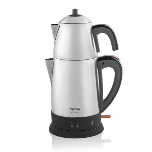 Arzum Turkish Tea Machine 1800 Watt Stainless Steel Color AR3051