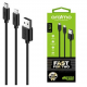 ORAIMO Car Charger Dual USB + USB Data Cable 2 In 1 Fast Charging Black Color OCC-21D+OCD-D61