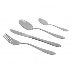 Abert Broggi Baltic Abi Set of Spoons,Forks and knifs 24 Pieces 3.2 mm Silver AB-LB6S80240F