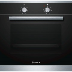 Bosch Built-In Electric Oven 60 cm 66 Liter With Grill and Fan Black Front: HBN301E6T
