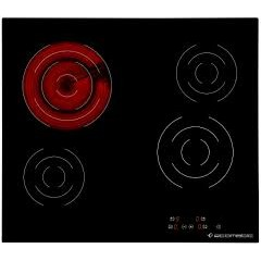 Ecomatic Built-In Electric Hob 4 Burners 60 cm Touch Control Black Ceramic V605T