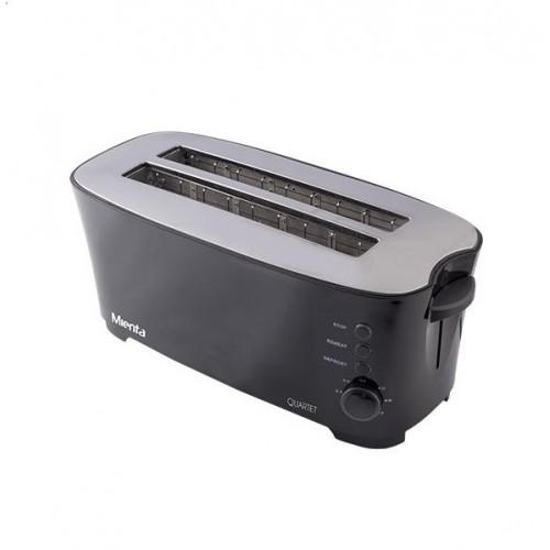 Mienta 4 Slice Toaster 1350 Watt Black TO21509A