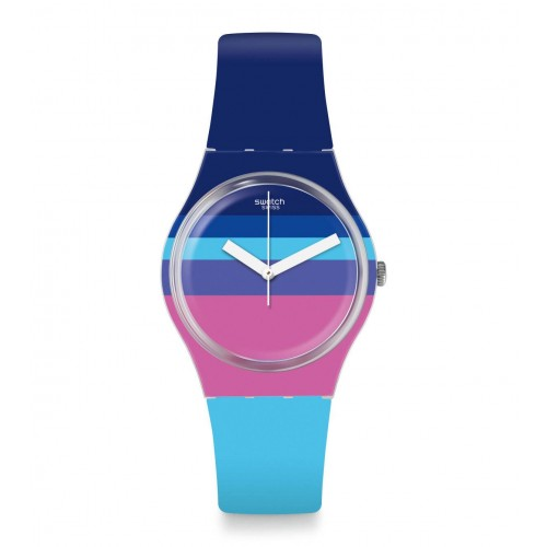 SWATCH Women's Watch Silicone Band Multi Colors GE260