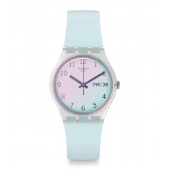 SWATCH Women's Watch Silicone Light Blue Band GE713