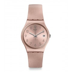 SWATCH Women's Quartz Analog Watch Silicone Pink Band GP403