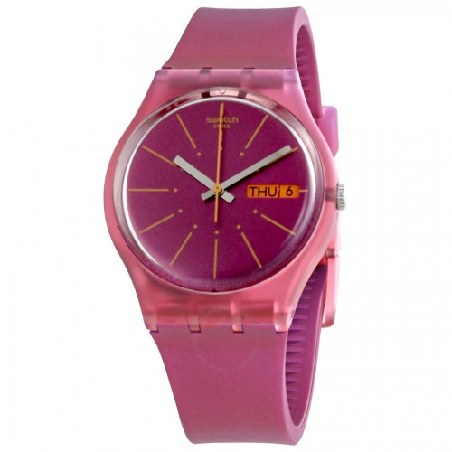 SWATCH Women's Watch Analoge Rubber Band Pink Dial GP701