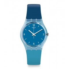SWATCH Unisex Blue Band With Blue Dial Watch Analoge Silicone GS161