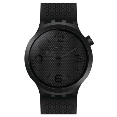 SWATCH Men's Watch Black Silicone Band SO27B100