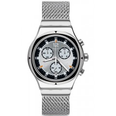 SWATCH Men's Chronoghraph Watch Stainless Steel Band Silver Dial YVS453MA