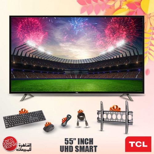 TCL 4K Smart LED TV 55 Inch Ultra HD With Built In Receiver 55P65