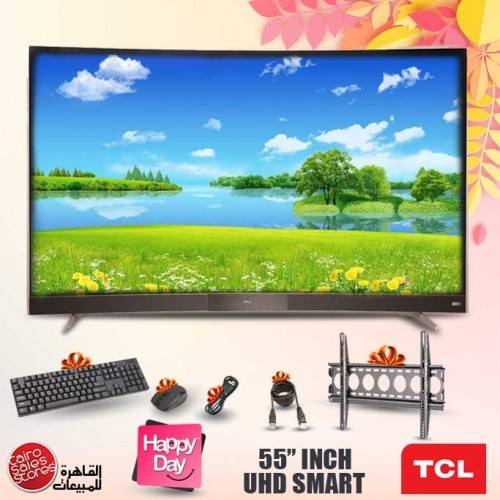 TCL 4K Curved Smart LED Monitor 55 Inch Ultra HD 55P3M