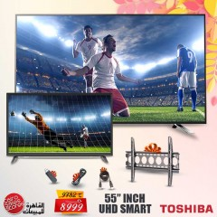 Toshiba TV LED 4K Smart 55 Inch With Built In Receiver 55U5865EA