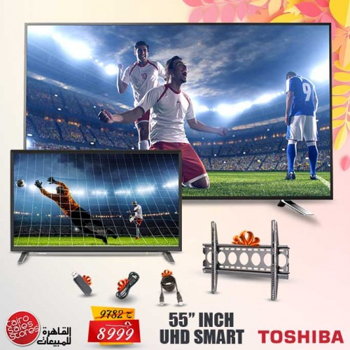 Toshiba TV LED 4K Smart 55 Inch With Built In Receiver 65U5865EA
