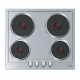 Gorenje Built-In Electric Oven with Grill and Electric Hob 60 cm 4 Plates BO615E01XK