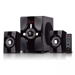 X-Loud Sound System FM Radio, USB & SD, Remote, with Bluetooth Subwoofer LD-X450