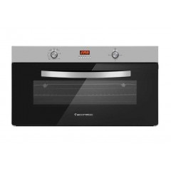 Ecomatic Built-in Gas Oven 90cm With Gas Grill & 2 Fans Stainless G9104TD