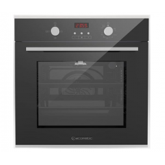 Ecomatic Built-in Gas Oven With Gas Grill 60 cm Digital Stainless Steel*Black Crystal With Fan G6444GTDX