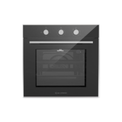 Ecomatic Built-in Gas oven 60 cm With Gas Grill & Fan Black Crystal*Stainless Steel G6444GT
