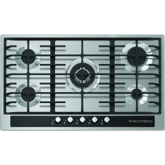 Ecomatic Built-In Hob 90 cm 5 Gas Burners CRYSTAL Front Control Panel S903GC