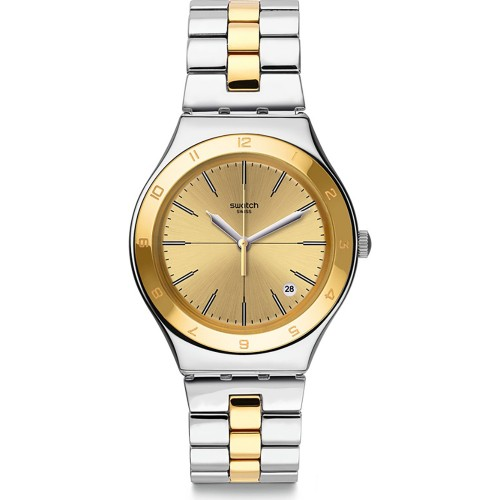 Swatch Women's Watch Gold Dial Stainless Steel YGS473G