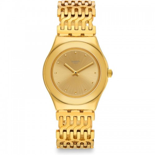 Swatch Women's Watch Gold Band With Gold Dial Stainless Steel YLG132G