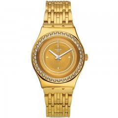 Swatch Women's Watch Gold Band With Gold Dial Stainless Steel YLG136G