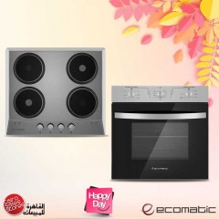 Ecomatic Built-In Hob 60 cm 4 Electric Hotplates and Electric Oven Professional 60cm ES603O