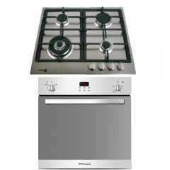Bompani Built-in Gas Oven 60 cm With Gas Grill 54 L Digital Stainless Steel BO243JK/L