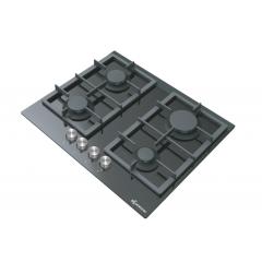 KLUGMANN Built-In Ceramic Hob 60 cm 4 gas Burner Cast Iron KT604BGL