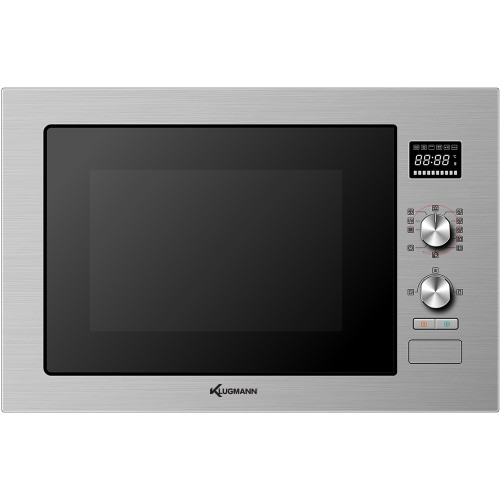 KLUGMANN Built-In Electric Combined Microwave Oven 60 cm 32 L with Grill Digital Stainless Steel KMO32TCX