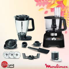 Moulinex Double Force Food Processor 34 Functions 1000 Watt Black FB824825