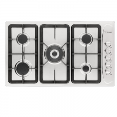 Bompani Built-In Hob 90 cm 5 Gas Burners Cast Iron Full Safety Stainless BO293GC/L