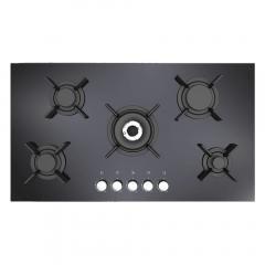 Bompani Built-In Hob 90 cm 5 Gas Burners Cast Iron Glass Black BO297VI/L
