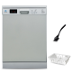 White Whale Dish Washer 12 Person Silver DW-1285VSS