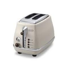 Delonghi Toaster 900W Creamy Color: CTOV2003.BG