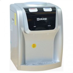 Grand Disk Top Water Mini Dispenser 2 Spigots Cold/Hot Safety with Hot Key Silver WDQ-1172-T