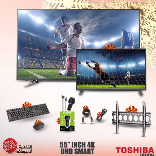 Toshiba 55 Inch LED UHD 4K Smart TV With Built In Receiver 55U5865EA