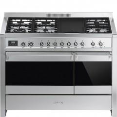 SMEG Gas Cooker 6 Burner with Plat Cast Iron Digital A3-81
