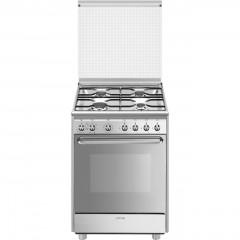 SMEG Gas Cooker 4 Burner with Electric Oven Enamelled CX60SV9