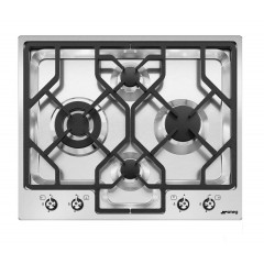 SMEG Built In Hob 4 Burners Gas Cast Iron Stainless Steel PGF 64-4