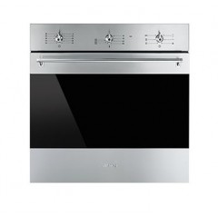 SMEG Built-In Classic Electric Oven with Grill 90 cm Stainless Steel SF 6381 X