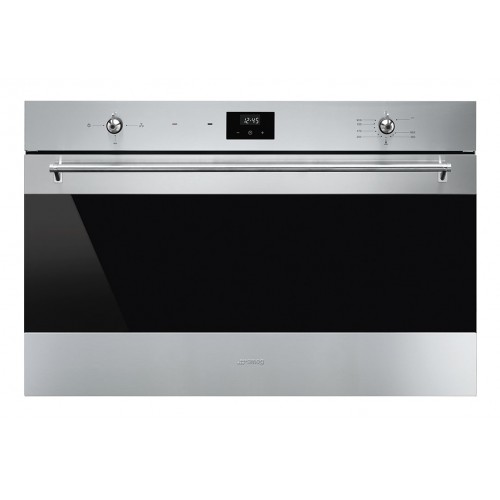 SMEG Built-In Gas Oven 90 cm with Gas Grill Stainless Steel Digital SF 9300 GGVX