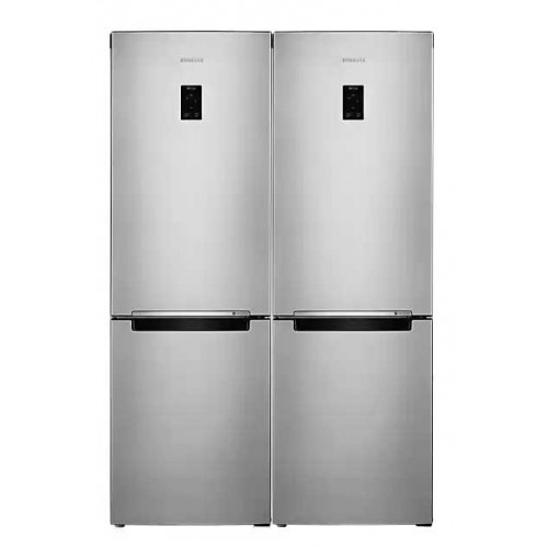 Samsung Refrigerator 321 Liter With Bottom Freezer 3 Drawers Silver Digital RB30J3200SA/MR