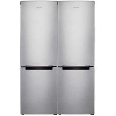 Samsung Refrigerator 328 Liter Twin Cooling Silver RB33J3000SA