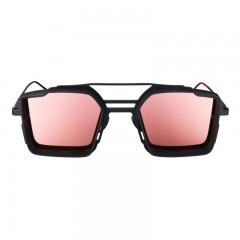 Vysen Collection Women's Sun Glasses LUIGI Black-Rose Gold