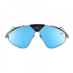 Vysen Collection Women's Sun Glasses Gun Metal Frame+Blue Mirror Lenses Luis Fonsi–F5