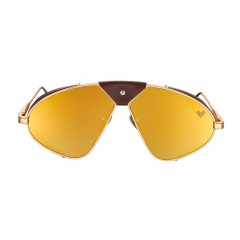 Vysen Collection Women's Sun Glasses Gold Matte Frame+Gold Mirror Lenses Luis Fonsi–F4