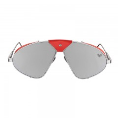 Vysen Collection Women's Sun Glasses Silver Matte Frame+Silver Mirror Lenses Luis Fonsi–F3
