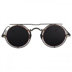 Vysen Collection Women's Sun Glasses Black Matte Dark Gun Frame+Black Grey Lenses ARIE-A1