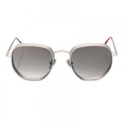 Vysen Collection Unisex Sun Glasses Silver Matte Frame+Black Lenses GRODA-G3